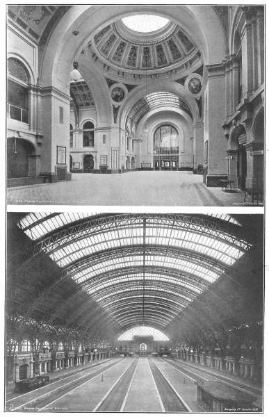Associate Product GERMANY. Interior views of station, dresden, saxony 1907 old antique print