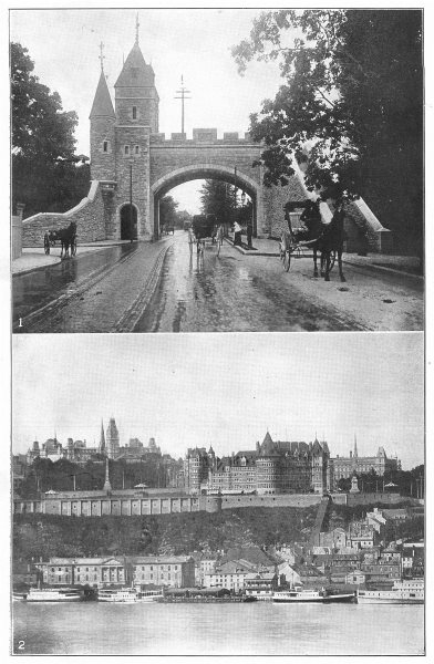 Associate Product CANADA. Quebec; St Louis Gate & Allee; Chateaux Frontenac, from Levis 1907
