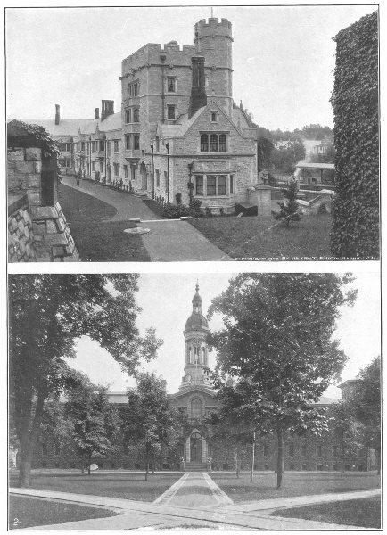 NEW JERSEY. Princeton University; 1. Stafford Little Hall; 2. Nassau 1907