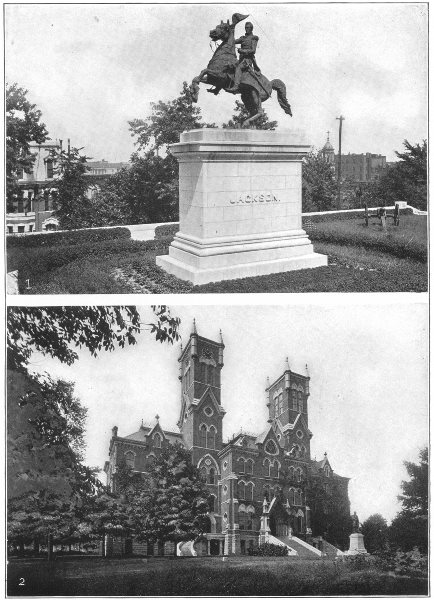 Associate Product NASHVILLE. Tenn; Jackson monument; Vanderbilt University, Science Hall 1907