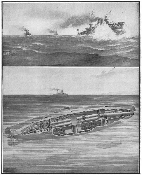 Associate Product USA. New US submarine Torpedo boats; Method of attack 1907 old antique print
