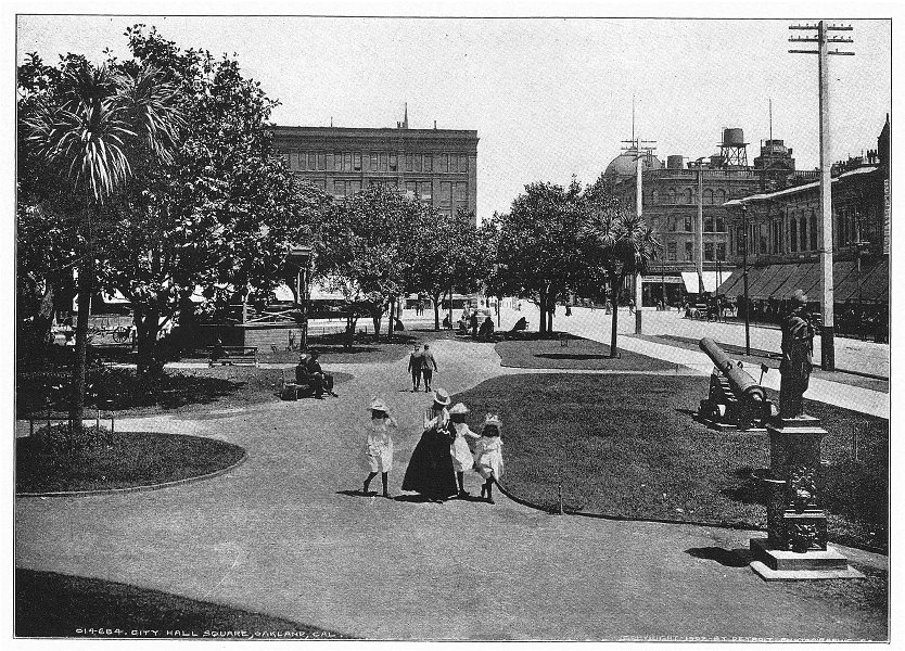 Associate Product CALIFORNIA. Oakland; City Hall Square 1907 old antique vintage print picture
