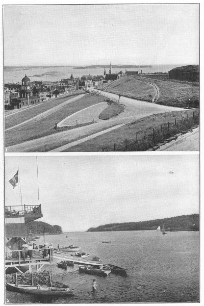 Associate Product CANADA. Halifax, N S; 1 Citadel; 2 North west Arm 1907 old antique print