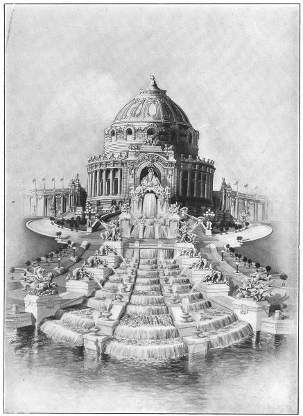 Associate Product LOUISIANA. Purchase Expo; Hall of festivals; artistic centre 1907 old print