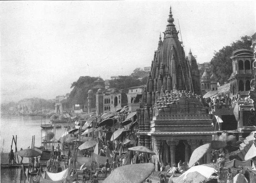 Associate Product INDIA. Varanasi, India 1907 old antique vintage print picture