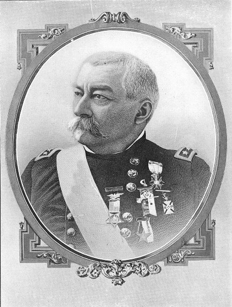 Associate Product MILITARIA. General P H Sheridan 1907 old antique vintage print picture
