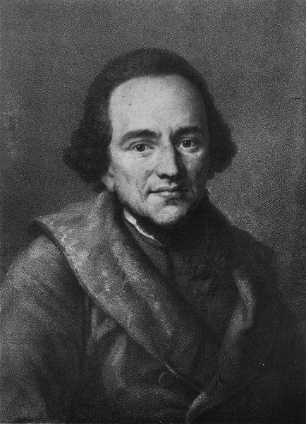PHILOSOPHY. Moses Mendelssohn 1907 old antique vintage print picture