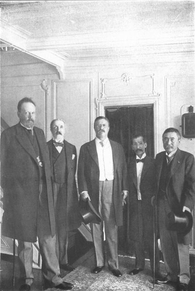 Associate Product POLITICS. Russian & Japanese Peace Commissioners with Pres Roosevelt 1907