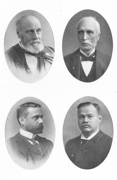 Associate Product CANADA WRITERS. Wm Dawson; Goldwin Smith; Gilbert Parker; Louis Frechette 1907