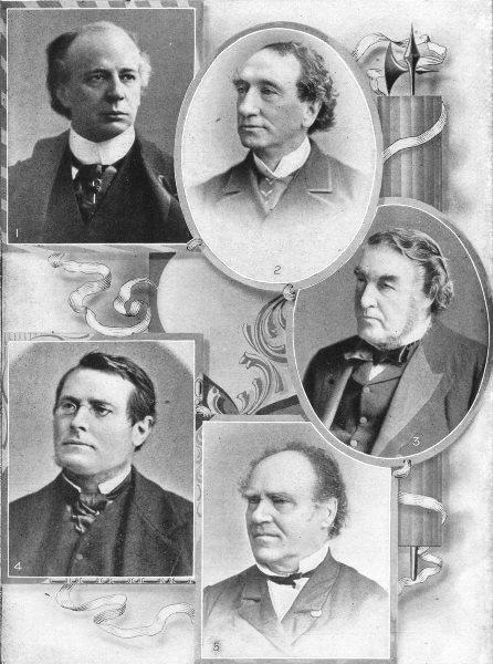 CANADA. Wilf Laurier John Macdonald Charles Tupper Ed Blake Joseph Howe 1907
