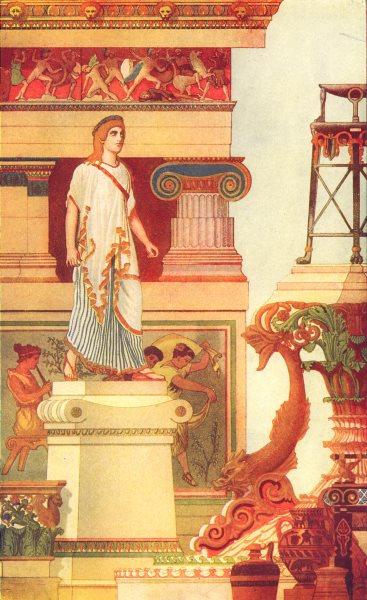 FINE ARTS. Grecian Art 1907 old antique vintage print picture