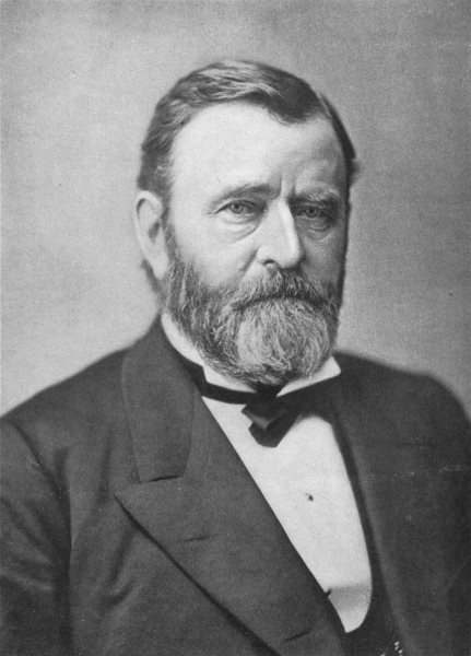 Associate Product ULYSSES SIMPSON GRANT. 18th President, US 1907 old antique print picture