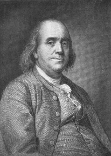 Associate Product POLITICS. Benjamin Franklin 1907 old antique vintage print picture