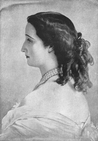 Associate Product FRANCE. Empress Eugenie (Winterhalter) 1907 old antique vintage print picture
