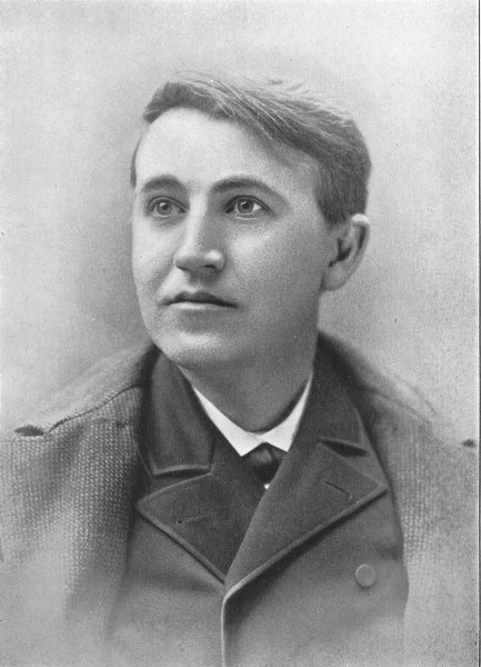 Associate Product INVENTORS. Thomas Alva Edison, American Electrician & Inventor 1907 old print