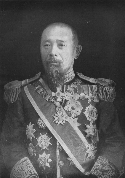 JAPAN. Marquis Hirobumi Ito, Ex Premier of Japan 1907 old antique print