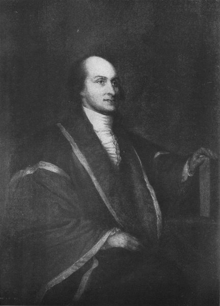 JOHN JAY. Chief Justice of US Supreme Court, 1789-1795 1907 old antique print