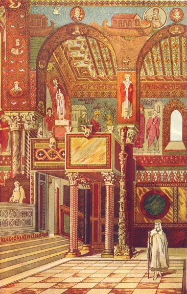 Associate Product EUROPE. Byzantine Architecture; Palatine Chapel at Palermo 1907 old print