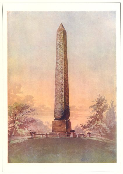 Associate Product NEW YORK. Cleopatra's Needle, Central Park, New York 1907 old antique print