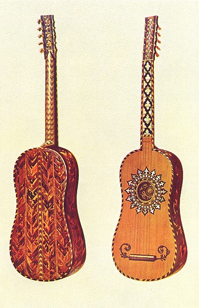 Associate Product MUSICAL INSTRUMENTS. The Rizzio Guitar 1945 old vintage print picture