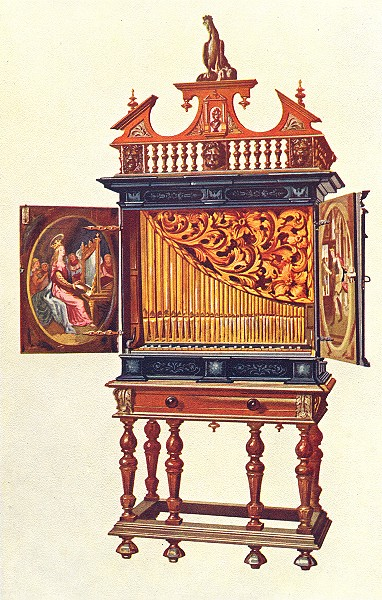 Associate Product MUSICAL INSTRUMENTS. Positive Organ 1945 old vintage print picture