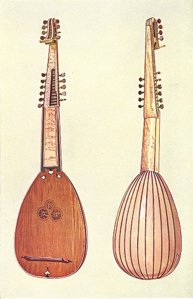 Associate Product MUSICAL INSTRUMENTS. Theorbo 1945 old vintage print picture
