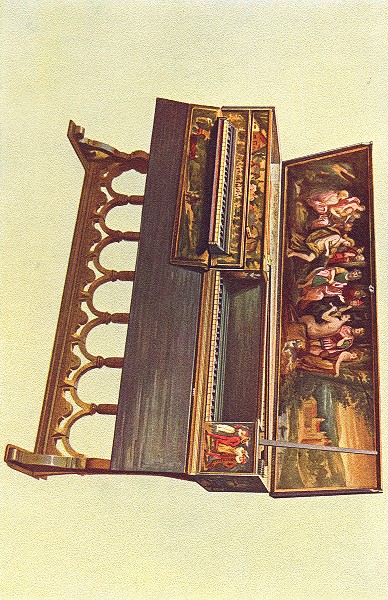 MUSICAL INSTRUMENTS. Double Spinet or Virginal 1945 old vintage print picture