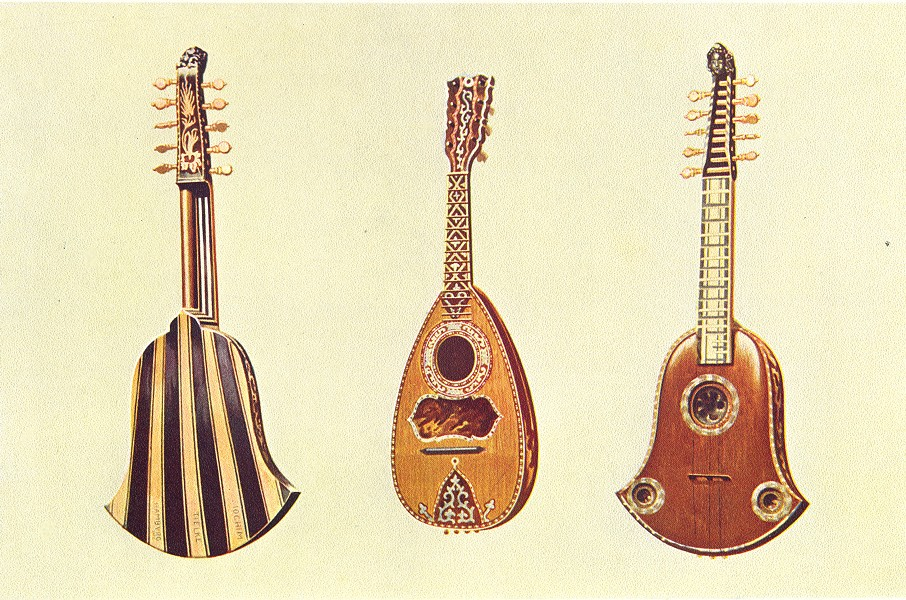 Associate Product MUSICAL INSTRUMENTS. Quinterna and Mandoline 1945 old vintage print picture