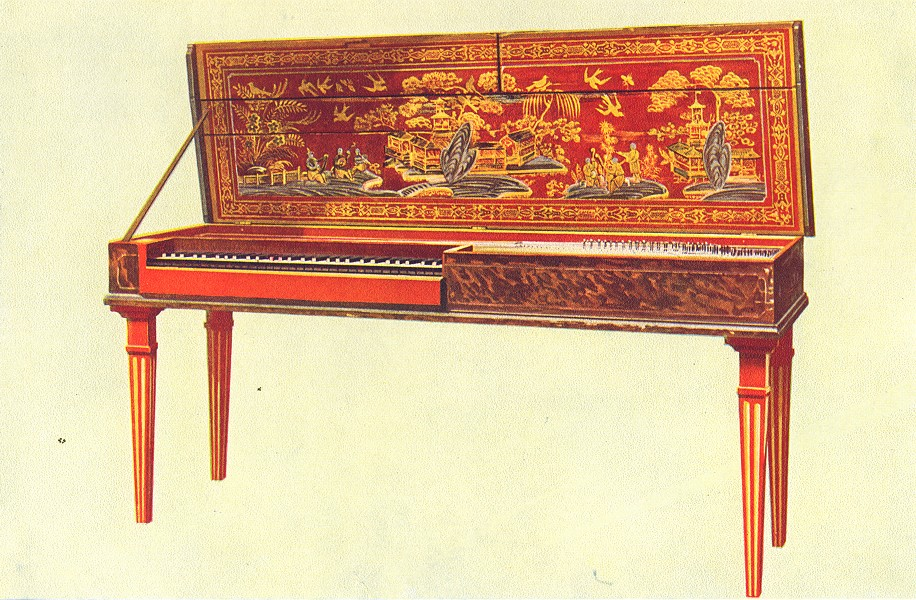 Associate Product MUSICAL INSTRUMENTS. Clavichord 1945 old vintage print picture