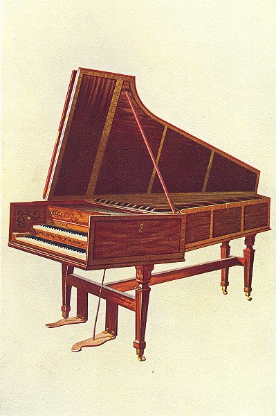 MUSICAL INSTRUMENTS. The Empress Harpsichord 1945 old vintage print picture