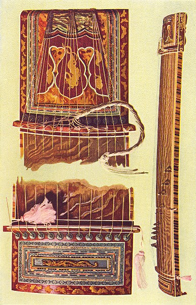 Associate Product MUSICAL INSTRUMENTS. Japanese Kota 1945 old vintage print picture
