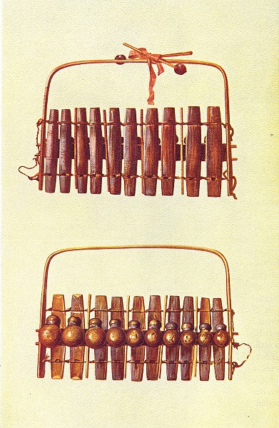 Associate Product MUSICAL INSTRUMENTS. Marimba of South Africa 1945 old vintage print picture