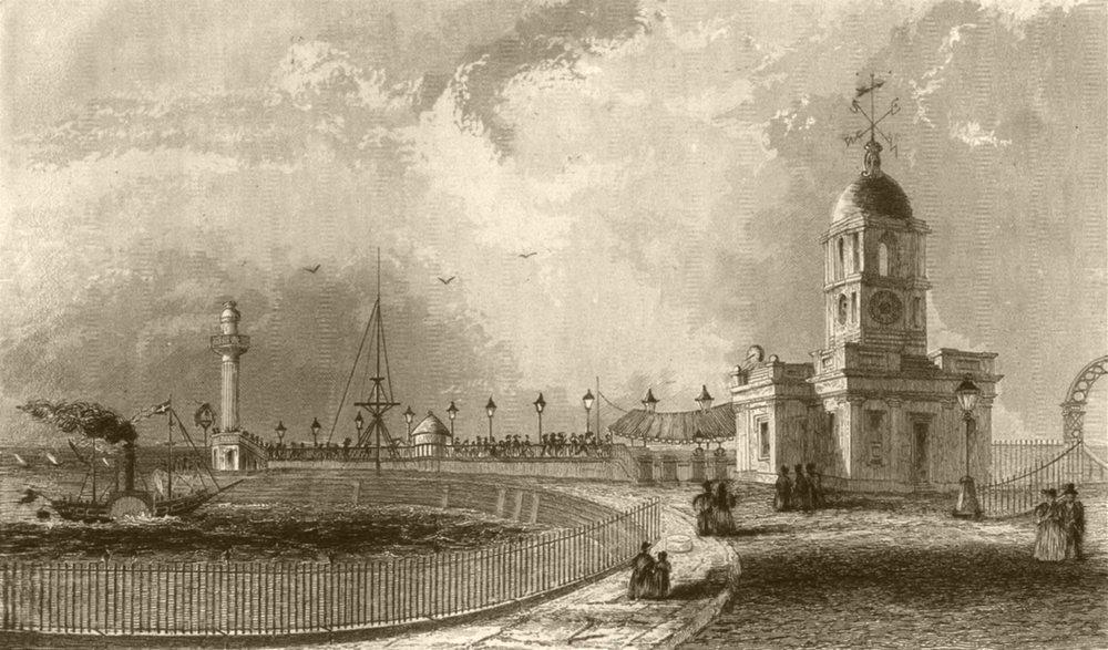 Associate Product KENT. Margate Pier and Harbour. DUGDALE 1845 old antique vintage print picture