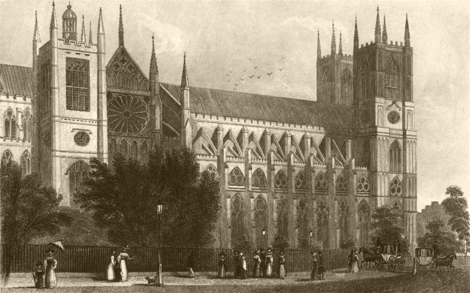 Associate Product LONDON. Westminster Abbey. DUGDALE 1845 old antique vintage print picture