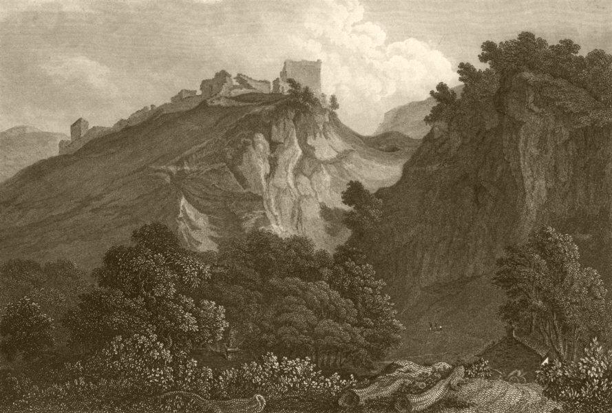 Associate Product DERBYSHIRE. Peveril's Castle The Peak. DUGDALE 1845 old antique print picture