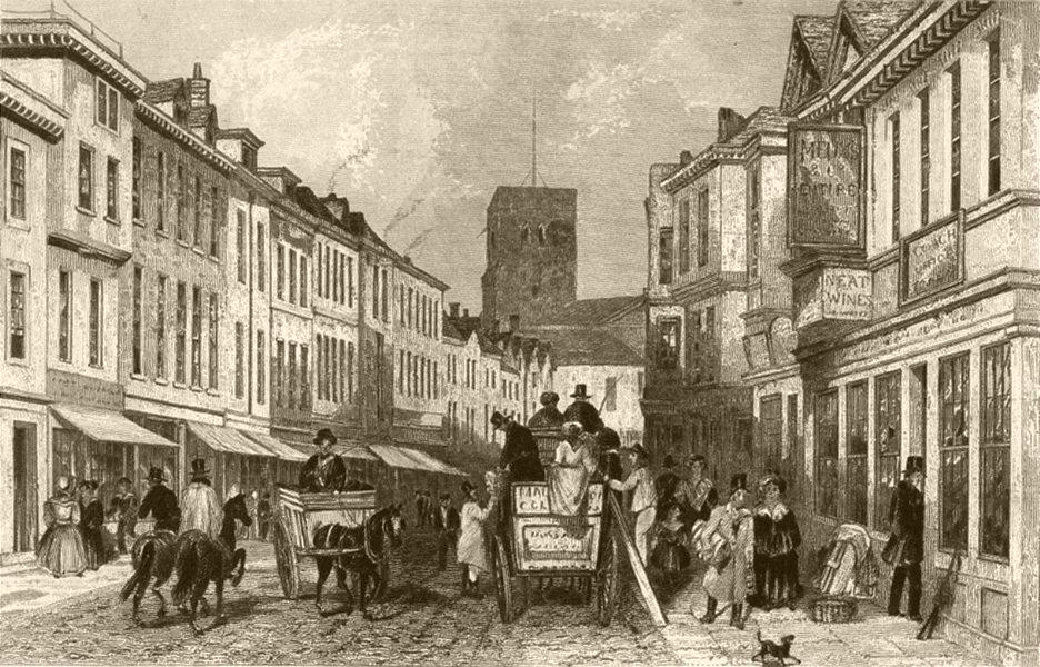 Associate Product KENT. Dartford. DUGDALE 1845 old antique vintage print picture