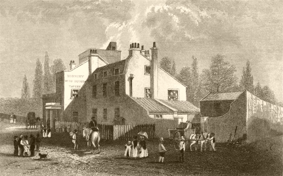 Associate Product LONDON. Hornsey Wood House. DUGDALE 1845 old antique vintage print picture