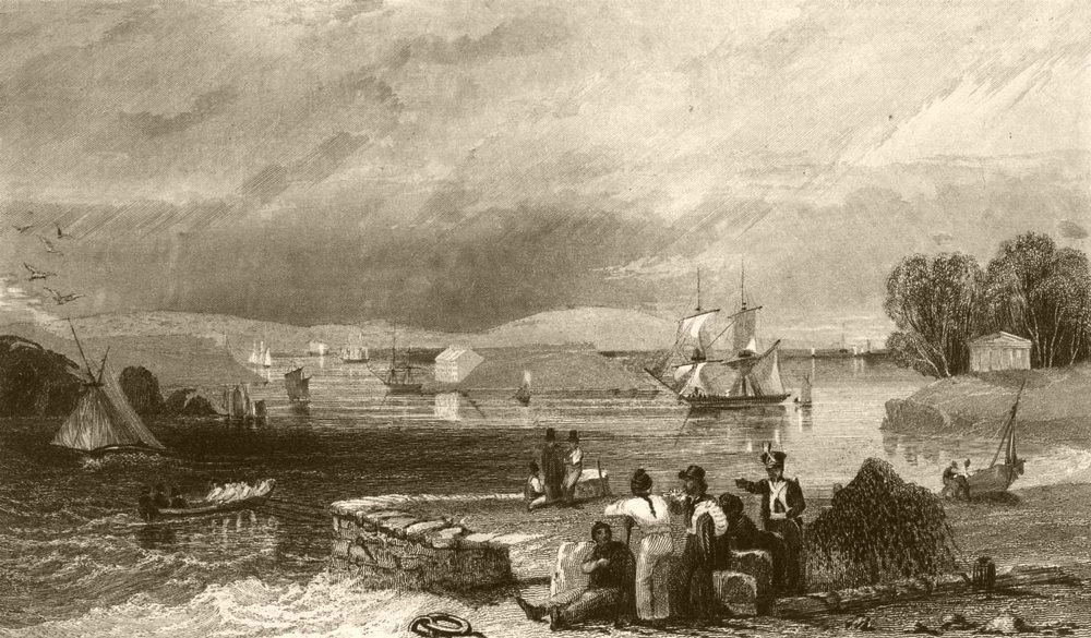 Associate Product DEVON. Plymouth Sound. DUGDALE 1845 old antique vintage print picture