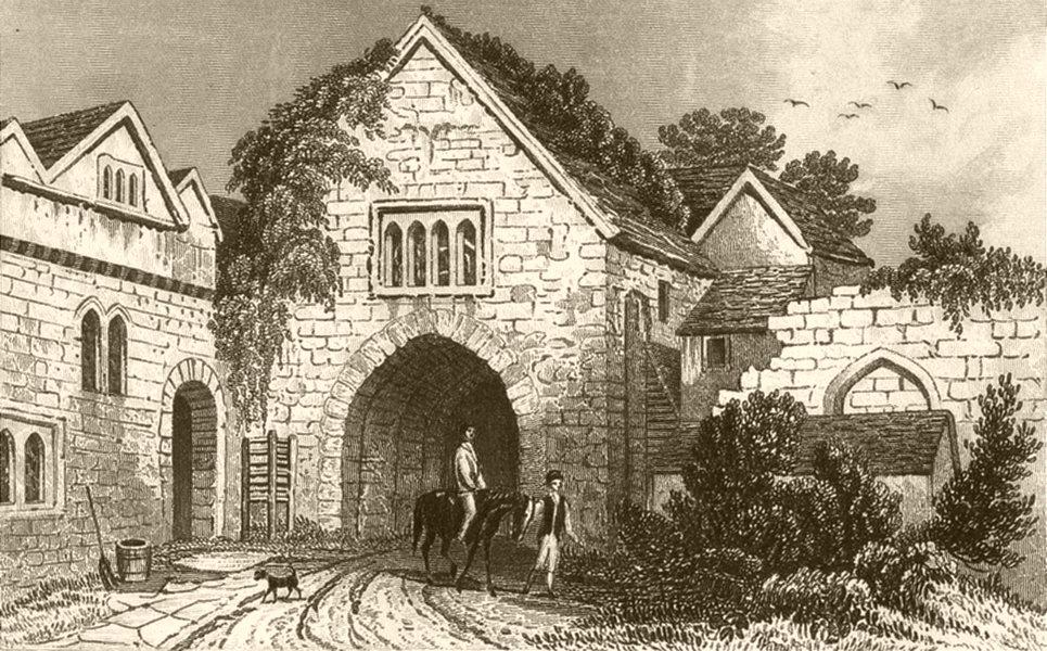Associate Product KENT. Allington Castle. DUGDALE 1845 old antique vintage print picture