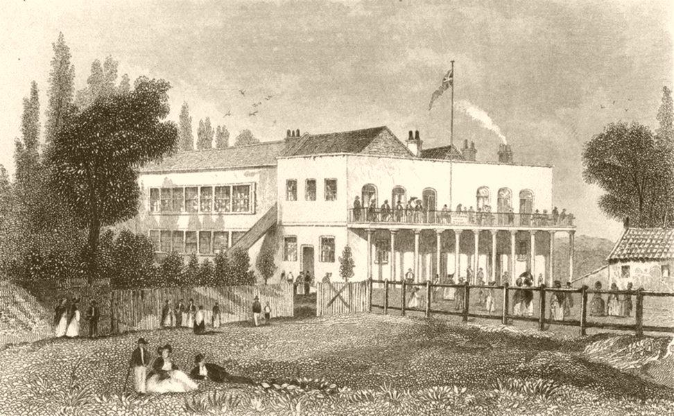 Associate Product PRIMROSE HILL. Chalk Farm. DUGDALE 1845 old antique vintage print picture
