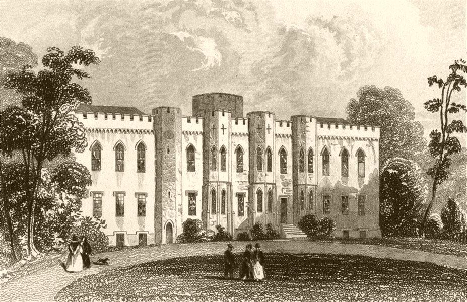 Associate Product WALES. Cardiff Castle (2). DUGDALE 1845 old antique vintage print picture