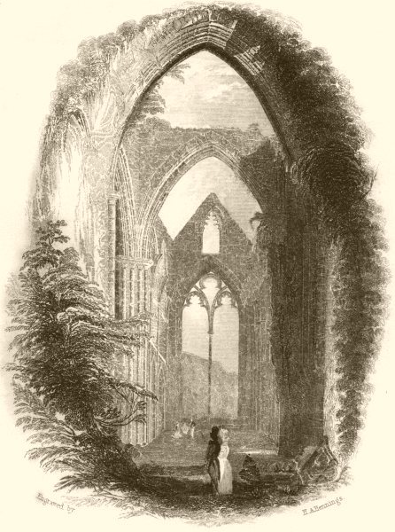 Associate Product WALES. Tintern Abbey. DUGDALE 1845 old antique vintage print picture