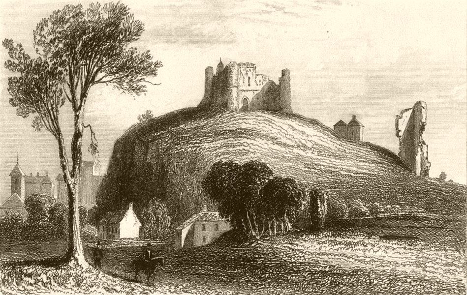 Associate Product YORKSHIRE. Knaresborough Castle, Yorkshire (2). DUGDALE 1845 old antique print
