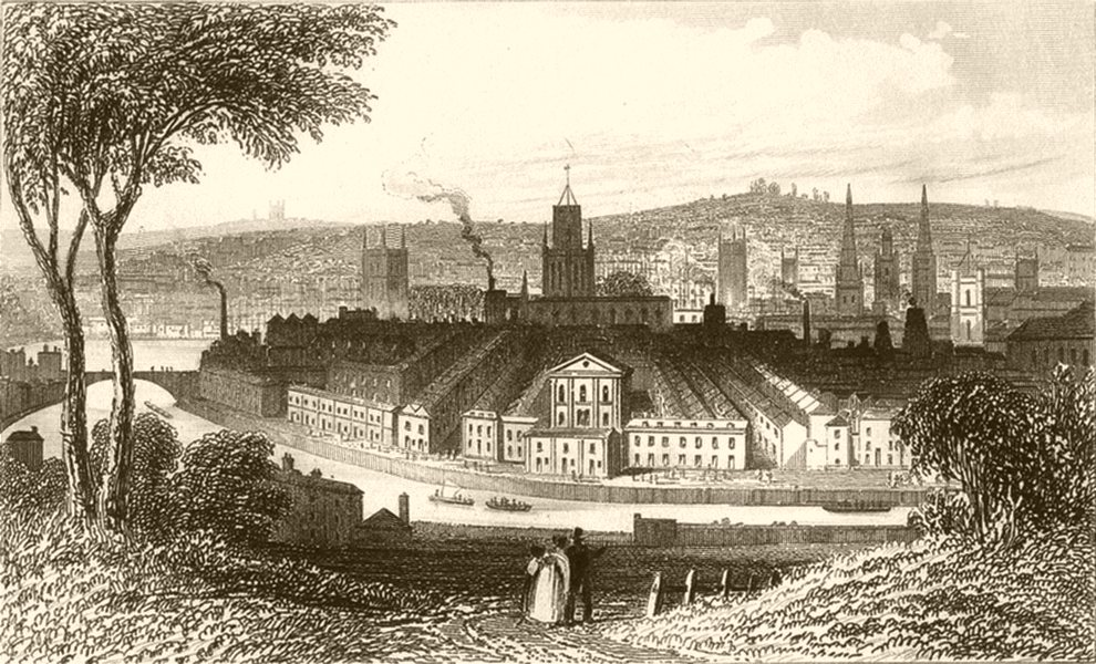 Associate Product GLOUCESTERSHIRE.City of Bristol,Gloucestershire and Somersetshire. DUGDALE 1845