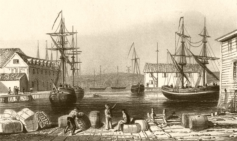 Associate Product SUFFOLK. Scene on the river Orwell at Ipswich. DUGDALE 1845 old antique print