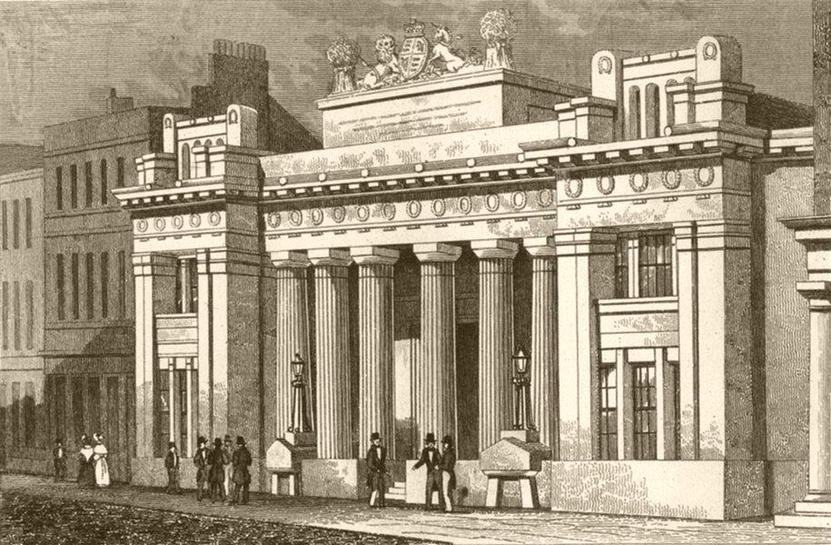 Associate Product LONDON. Corn exchange, Mark lane, London. DUGDALE 1845 old antique print