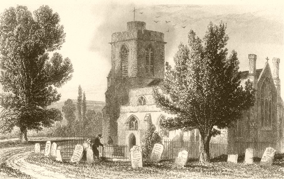 Associate Product LONDON. Hornsey Church. DUGDALE 1845 old antique vintage print picture
