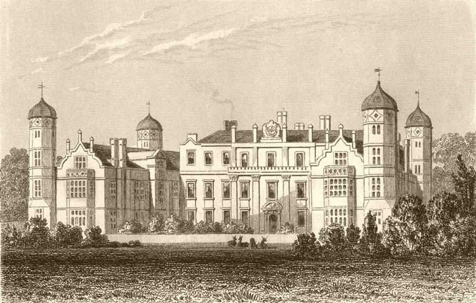Associate Product KENT. Cobham hall, Kent, the seat of Earl Darnley. DUGDALE 1845 old print