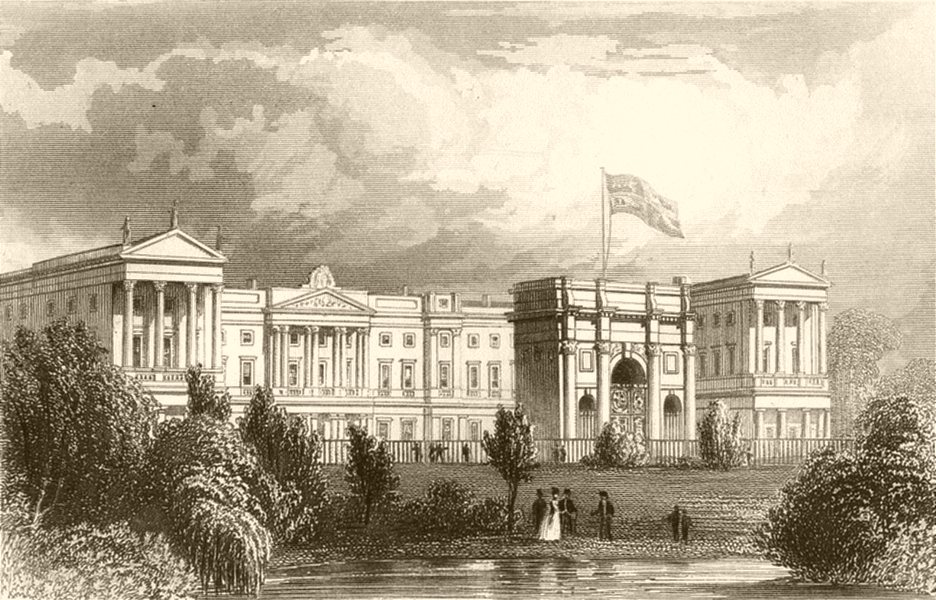 Associate Product LONDON. The Queen's palace, Pimlico. DUGDALE 1845 old antique print picture