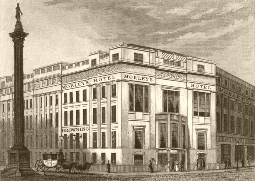 Associate Product YORKSHIRE. Morley's hotel. DUGDALE 1845 old antique vintage print picture